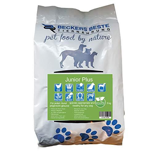 Beckers Beste - glutenfreies Welpen Hundefutter 5kg - Junior Plus Welpenfutter mit Geflügel ohne Weizen - Trockenfutter für große und kleine Hunde