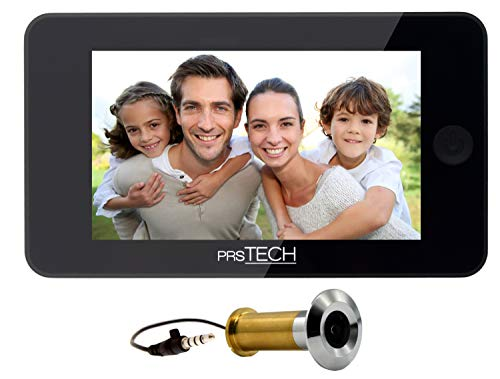 prsTECH® DoorCAM DC2 PLUS Judas Numérique Grand écran 4,3'' Espion Porte Caméra Grand Angle 120° pour épaisseurs de porte de 38mm-110mm, facile à utiliser, sécurité