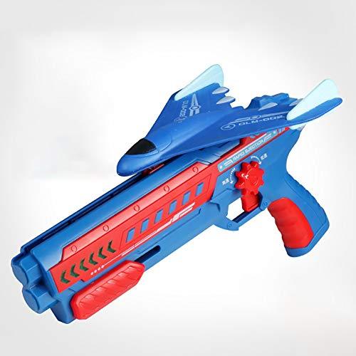 Firwood Bubble Catapult Plane, Catapult Plane Foam Air Battle Toy, con Luces LED, Velocidad De Cambio Ajustable, Shooting Game Toy para Niños, Regalo para Niños,Dark Blue