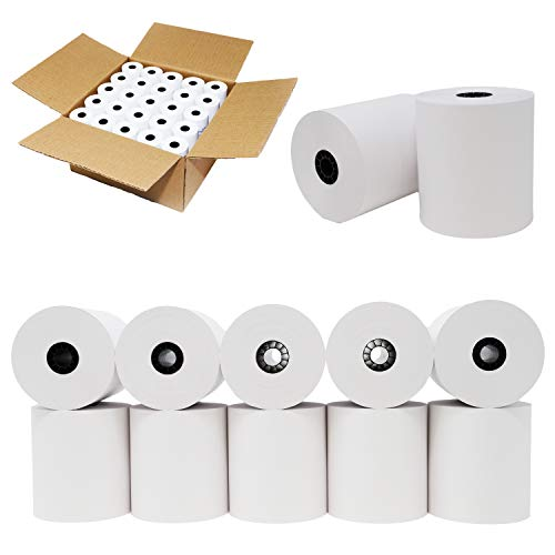 "3"" x 150' 1-Ply Bond (50 Rolls), Works for Epson TM-U300, Epson TM-U325, Epson TM-U375, Epson TM051 from BuyRegisterRolls"