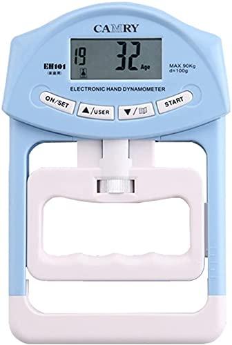 LXNQG Dinamómetro Dinamómetro Dinámico Dinámico Dinámico Mano Medidor Meter Potencia Potencia Capacitación para Accesorios de Ejercicio efectivos Fortalecimiento de Agarre de Mano (Color: Azul
