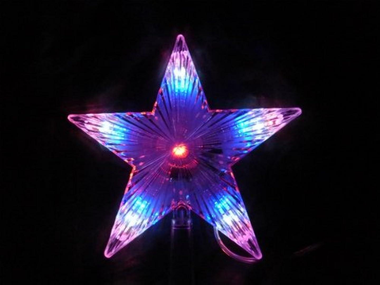 博物館短命後ろにLED クリスマスツリー トップライト イルミネーション MIX 自動点滅 線5m 立体 星 スター オーナメント
