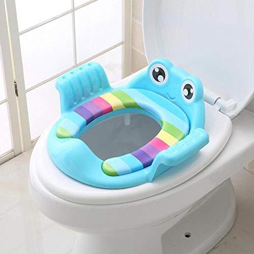 Azul Reductor de WC para Beb/é port/átil y plegable Almohadilla para la cubierta del asiento de entrenamiento para el ba/ño Asiento de inodoro para ni/ños