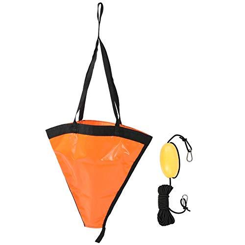 Keenso Tragbares Boot Anker Float Set für Yacht Dinghy Kayak Fischerboot 24in(Orange)