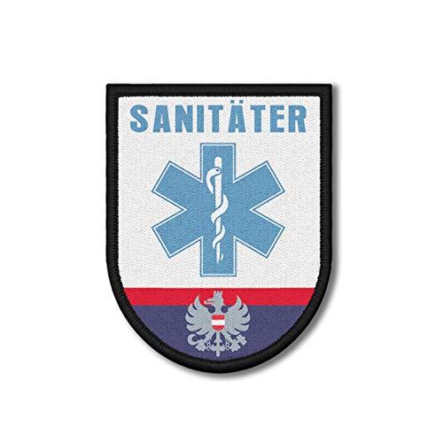Copytec Patch Sanitäter Polizei Österreich Sani Arzt Rettungsdienst 9x7cm #26181