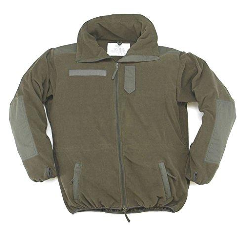 A. Blöchel Wind+ wasserdichter Windbreaker Warme Fleece-Jacke mit Membrane Wandererjacke Oliv Übergrößen S-5XL (L)