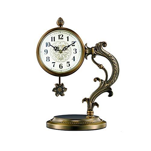 kerryshop Reloj Despertador Sala de Estar Reloj de Mesa/Home Mantel Clock/Escritorio del Reloj de péndulo/Dormitorio Reloj de Mesa/Silencio, Material metálico, 15.4 Pulgadas Reloj de Escritorio
