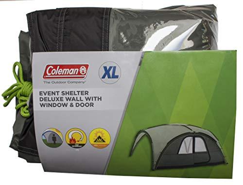 Seitenwand für Coleman Event Shelter Deluxe, 1 Pavillon Seitenteil mit Tür und Fenster, Seitenplane, dient auch als Sonnenschutz, Wasserabweisend, Grün