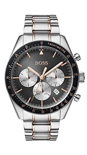 Hugo Boss Herren Chronograph Quarz Uhr mit Edelstahl Armband 1513634