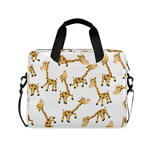 OOWOW - Bolsa para portátil para mujer y hombre, diseño de jirafa de animales, ligero, maletín para ordenador portátil de 14 a 15,6 a 16 pulgadas