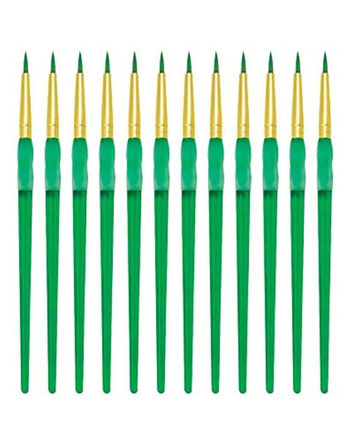 省略する癒す眉をひそめるRoyal Brush ビッグキッズ チョイス ラウンドペイントブラシ サイズ2 12個パック Size 2 RSET-BK62-2-12 1