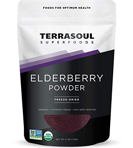 Terrasoul Superfoods Organic Elderberry Powder, 4 Oz - Freeze-Dried |...