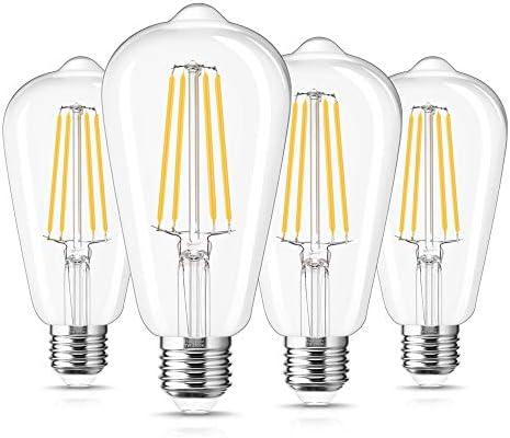 ST64 Dusk to Dawn Light Bulb Outdoor DORESshop ST64 7W 60W Equivalent Vintage Edison Filament product image