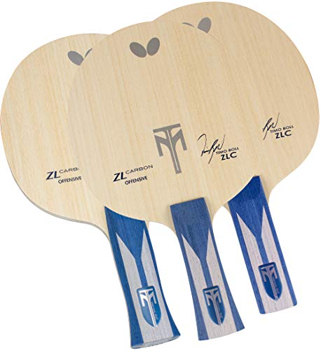 Butterfly Timo Boll ZLC Blade Table Tennis Blade - Professional ZL Carbon Fiber Blade - Available in an, FL, and ST Handle Styles - Made in Japan