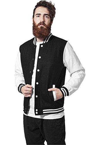 Urban Classics TB201 Herren Jacke Bekleidung Oldschool College Jacket, Mehrfarbig (Blk/Wht 50), XL