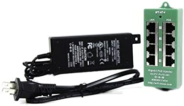 PoE Texas AT-4-48v60w   Active 802.3at 4 Port Power Over Ethernet Injector   with 48 Volt 60 Watt UL Power Supply