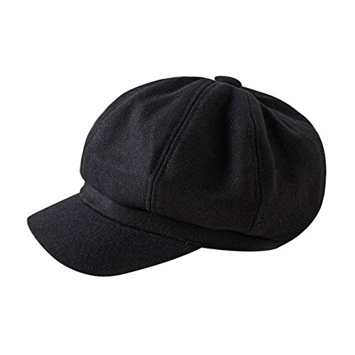 LDYQ Boinas para Mujer Estilo Simple Sombrero Sombreros Planos Invierno Visera Invierno Gorra Vendedor de Periódicos Sombreros Navidad de Regalo para Las Mujeres Newsboy Hat