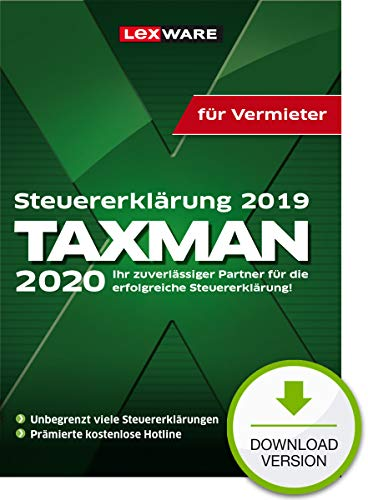 Lexware Taxman 2020 Download für das Steuerjahr 2019 Übersichtliche Steuererklärungs-Software für Vermieter