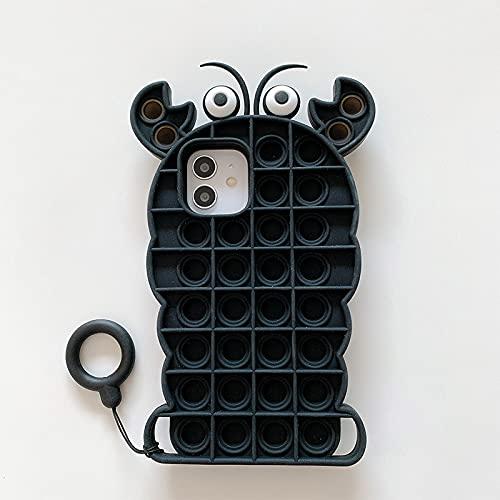 Funda para teléfono de juguete, compatible con iPhone 12/12Pro/11/11Max/X/XS Max Alivia el estrés y la ansiedad, juguete para niños y adultos (número 5)