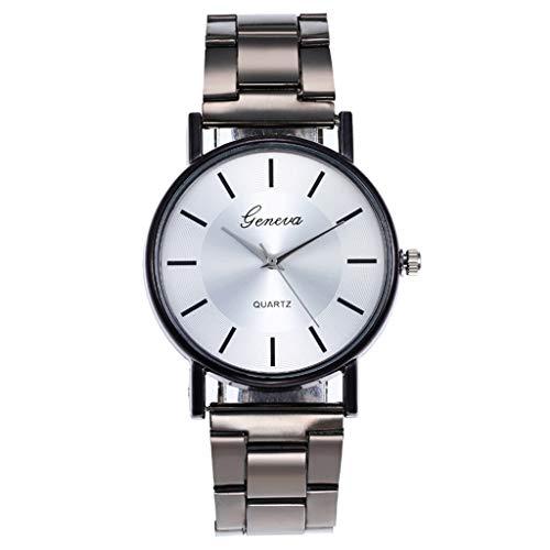 Relojes Para Mujer Relojes de cuarzo para hombres y mujeres Diamante reloj de oro de acero inoxidable reloj de moda analógico regalo Relojes Decorativos Casuales Para Niñas Damas ( Color : Coffee )