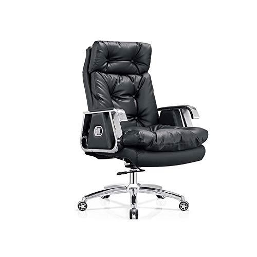 KJLY Sedia Boss, Sedia da ufficio, Testa Layer Chilchide Sedia girevole, Sedia per computer ergonomica, Nero