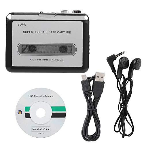 Cassette Converter, Plug and play, Lichtgewicht en draagbaar, Cassette naar PC Cassetterecorder MP3 CD Converter Capture Digital Audio Music Player