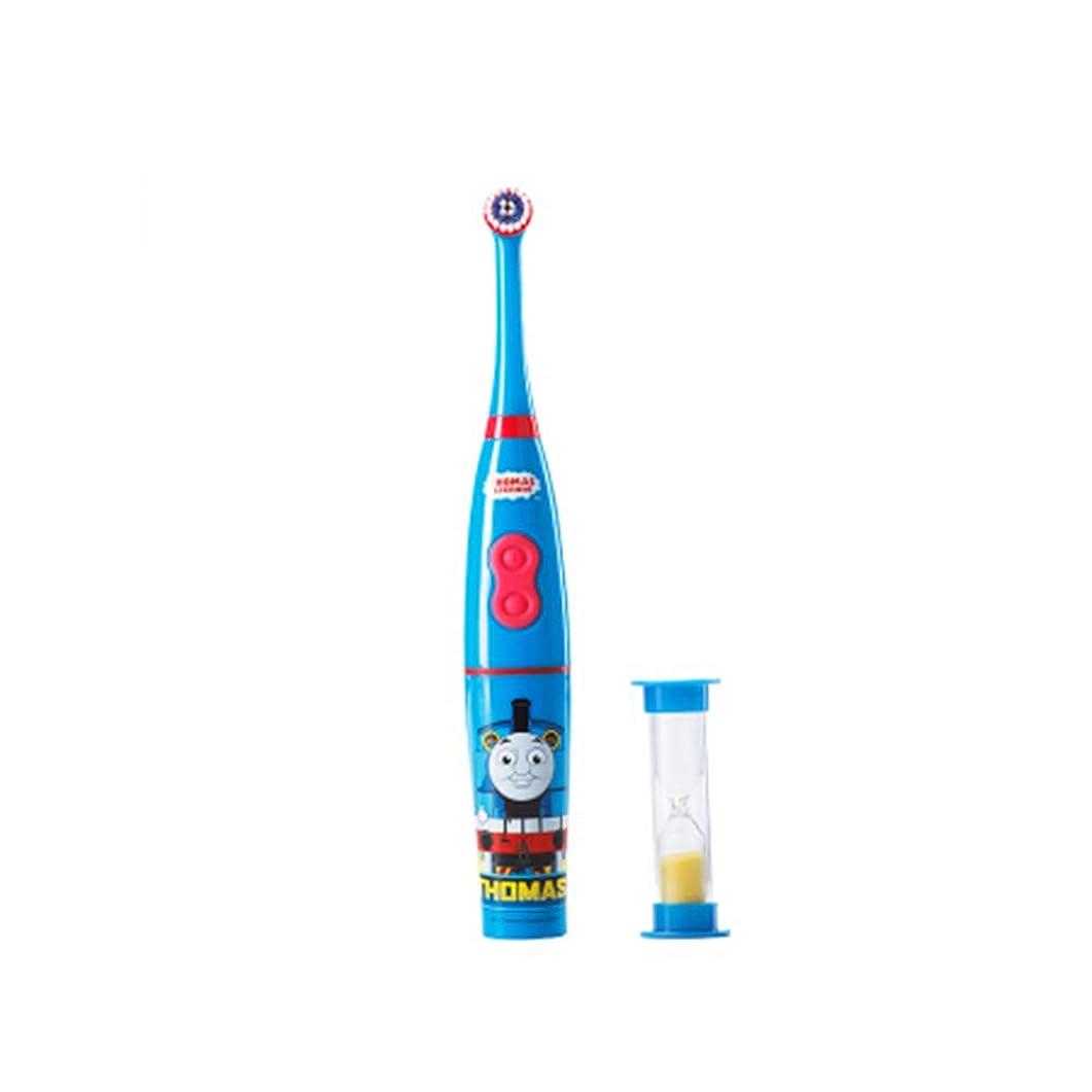 にきらめく偽善者子供のためのインテリジェントな子供用電動歯ブラシ、充電式音波電動歯ブラシ、明るい白い歯、歯茎のケア、交換可能なブラシヘッド-blue