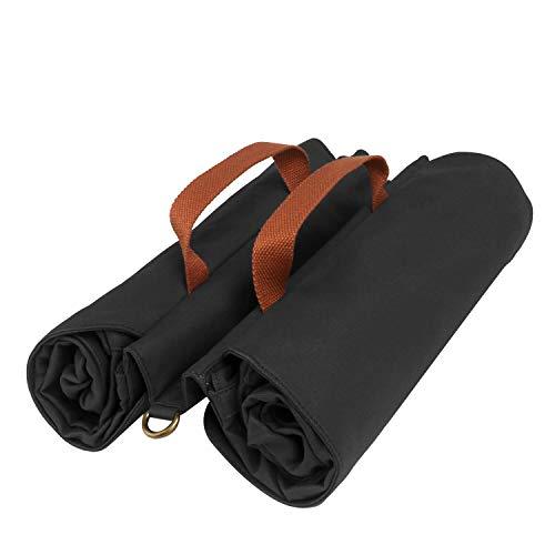 TOURBON Wasserdichte Fahrradtasche aus Segeltuch für den Rücksitz, Gepäckaufbewahrung, doppelt, aufrollbar, Schwarz