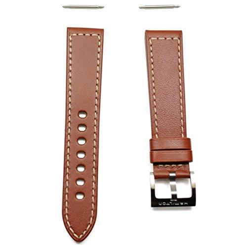 Correa Hamilton Khaki Piel marrón con Hebilla Acero 20mm H600.704.104