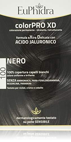 Euphidra Colorpro XD Colorazione Permanente con Acido Jaluronico, Nero - 190 g