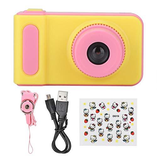 FOLOSAFENAR Cámara para niños de Dibujos Animados, Formato JPG Mini cámara Digital Pantalla a Color de 2.0 Pulgadas Mini Tarjeta TF USB2.0 para Disparador automático Foto y Video