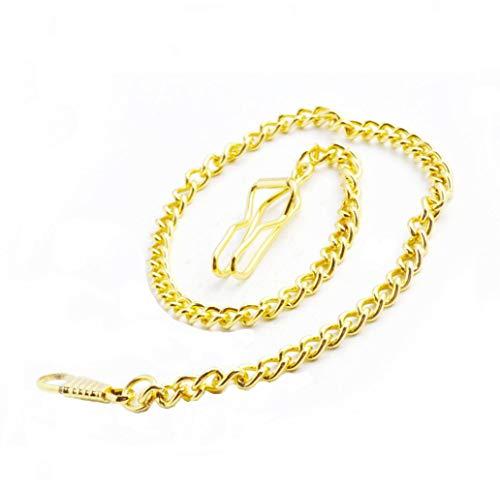 Halskette für Taschenuhr, Metall, klassisch, versilbert, 38 cm (Gold)
