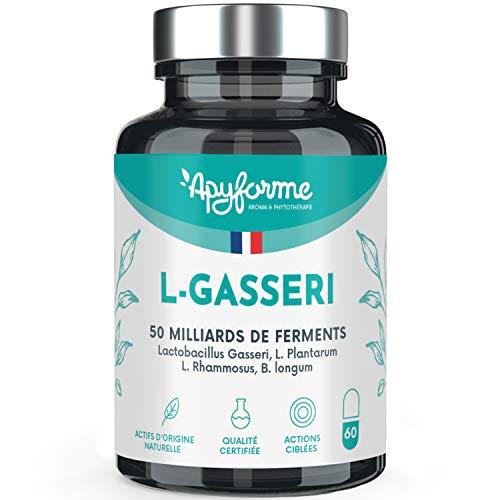 Fermenti Lattici - Probiotici Lactobacillus Gasseri - 25 miliardi di CFU con 2g/d - Capsule Gastroresistenti - 100% FRANCESE - 30 Giorni 60 Capsule - Prodotto in Francia da Apyforme