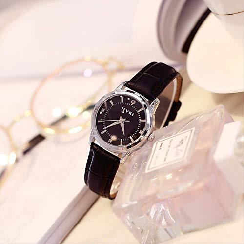 Pareja De La Chica De La Mesa Un Par De Auténtica Minimalista Estudiante Versión Coreana De La Moda Fresca Retro Tendencia Impermeable Reloj De Cuarzo