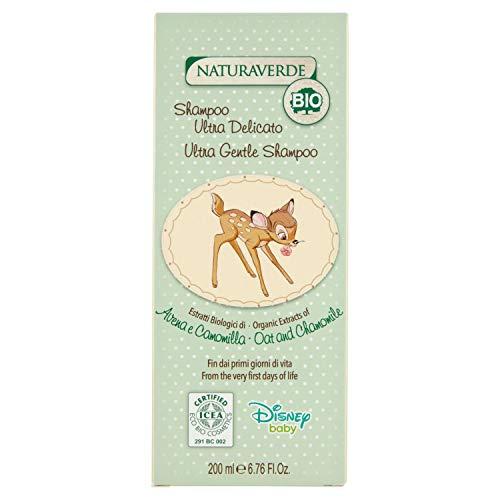 Disney Baby BIO ICEA Eco Cosmetics - Ultra Zartes Shampoo mit Haferextrakten und Kamille - Bambi, 200 ml