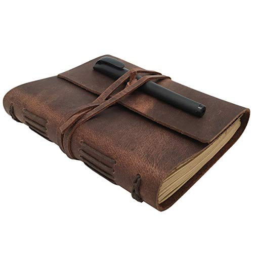 Handmade Genuine Leather Bound Daily Journal
