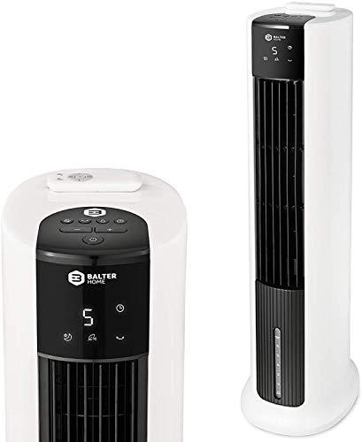 Balter VT-05 4in1 Mobile Klimaanlage, Turmventilator, Ventilator mit Wasserkühlung, Klimagerät, Luftkühler, Luftbefeuchter, Luftreiniger, Fernbedienung, Timer, 7L, 65 Watt, leise