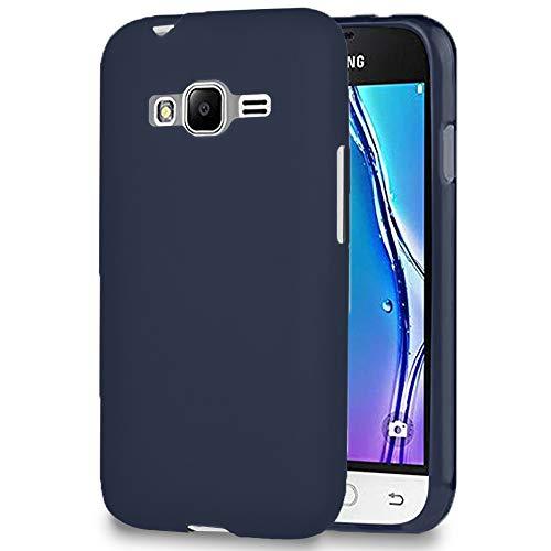 MyCase Custodia Morbida per Samsung Galaxy J1 Mini Prime | Blu Scuro | Silicone TPU