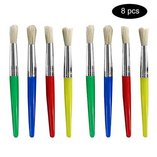 8 * ronde kop set kleur plastic olieverf borstel haren acryl pen water krijt aquarel pen