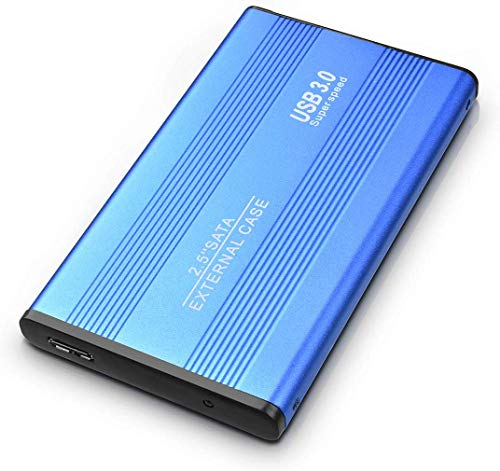 Disque dur externe 1 To 2 To USB 3.0 Disque dur pour PC, Mac, ordinateur de bureau, ordinateur portable, MacBook, Chromebook (1 To, bleu)