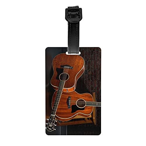 Etiquetas para instrumentos musicales GuitarLage, Lage Tags para maletas, Accories de viaje PVC Lage Bag Tags, Adecuado para viajes Deportes Backk Decoración