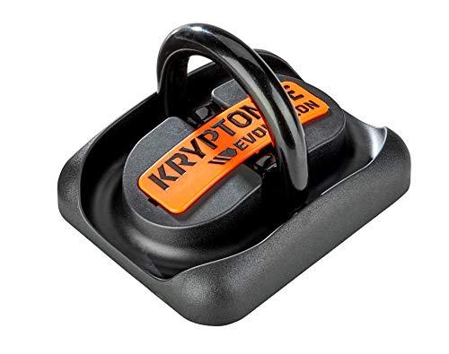 Kryptonite Evolution Ground Anchor Ancre de Sol Adulte Unisexe, Noir/Orange, M