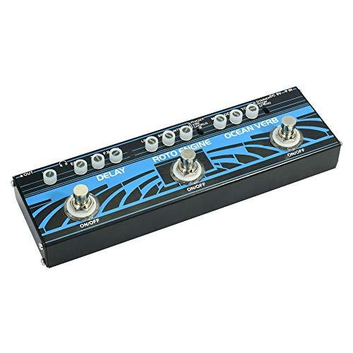ZDAMN gitaareffectprocessor klein multi-gitaar-effect pedaal 3 soorten effectvertraging Ocean Verb, Roto Engine Gitaar Tuning-accessoires