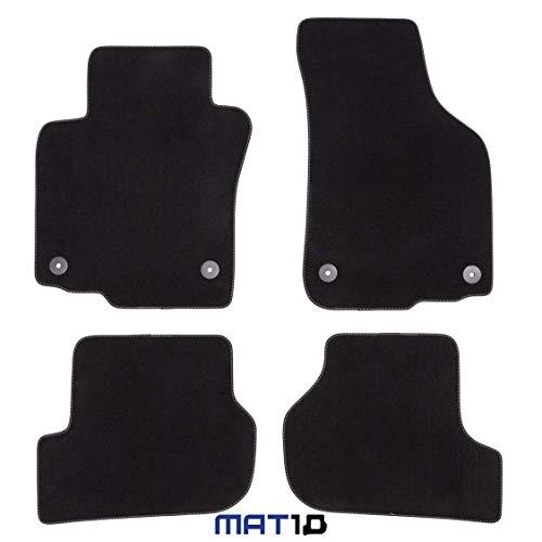 MAT10 - Silver-Line: Skoda Octavia II Limousine y Kombi Año de construcción 2007-03 - 2013-06 Auto alfombras Autoteppich Velours Premium Calidad 4-proporcionalmente Passform