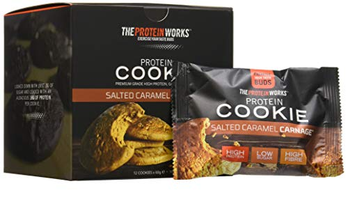 THE PROTEIN WORKS Biscotto Proteico, Salted Caramel Carnage, 12 porzioni