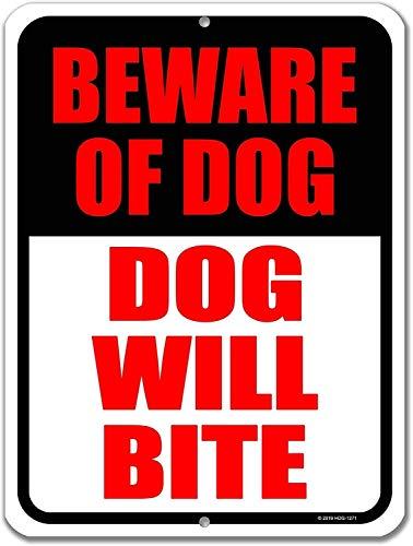 Honing dauw geschenken hond teken, pas op voor hond hond hond zal bijten metalen aluminium Pas op voor hond tekenen voor hek, gemaakt in de VS