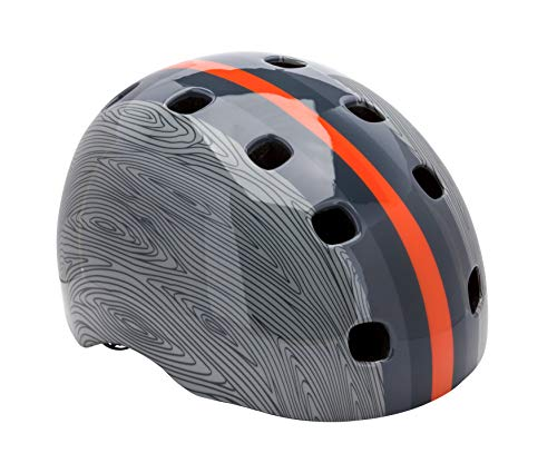Schwinn Burst Bike Helmet, Youth Helmet, Grey Wood Grain Design