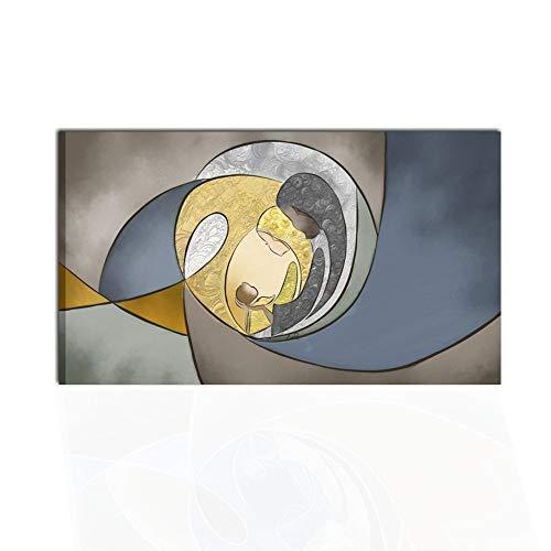 I Colori del Caribe Quadro CAPEZZALE Dipinto A Mano per Camera da Letto Sacra Famiglia Quadri Dipinti A Mano CAPOLETTI Alta QUALITA' Made in Italy - DIVINO Amore