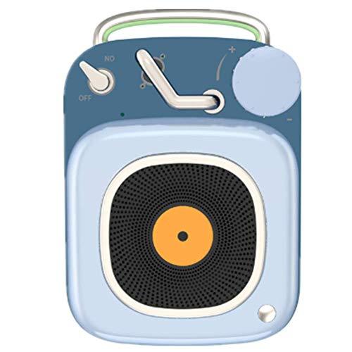 WFY Altoparlante Esterno Cartone Animato Mini con BT5.0 E Chiamata Vocale Audio USB Portatile di Ricarica 450Mah capacità della Batteria di 4 Ore Tempo del Gioco per Il Tempo Libero Ragazze,Blu
