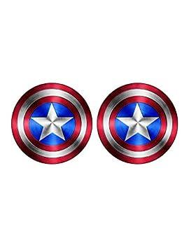 Foxy21 Captain America Shield Vinyl Sticker DecalSIZES  4  x 4    2